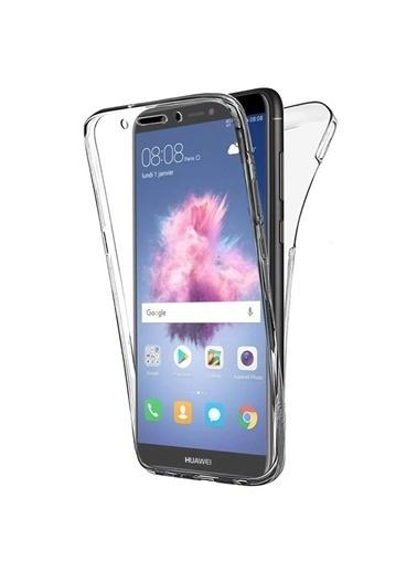 Microsonic Huawei P Smart Kılıf 6 tarafı tam full koruma 360 Clear Soft  Renksiz